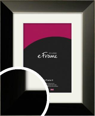 Simple Black / Grey Picture Frame & Mount (VRMP-734-M)
