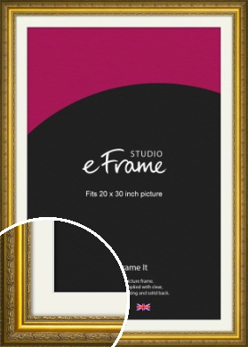 Ornate Gold Picture Frame & Mount, 20x30