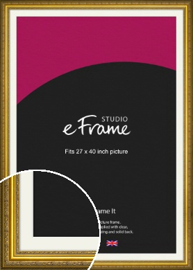 Ornate Gold Picture Frame & Mount, 27x40