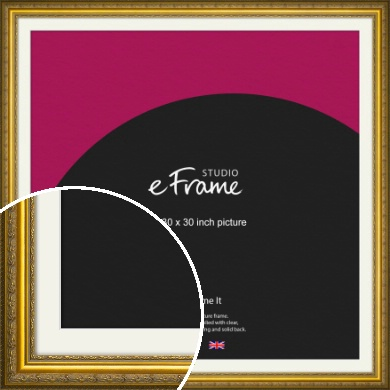 Ornate Gold Picture Frame & Mount, 30x30