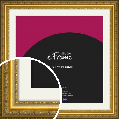 Ornate Gold Picture Frame & Mount, 40x40cm (VRMP-1128-M-40x40cm)