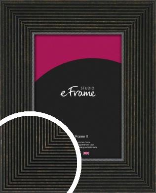 Channelled Black Picture Frame (VRMP-1131)