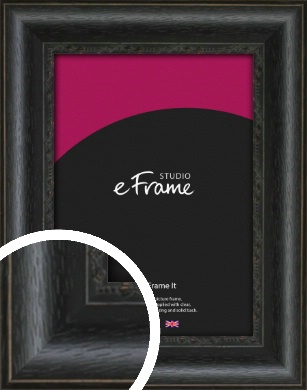 Floral Pattern Open Grain Black Picture Frame (VRMP-1134)