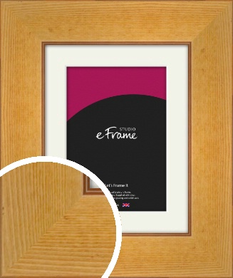 Sun Kissed Stained Brown Picture Frame & Mount (VRMP-283-M)