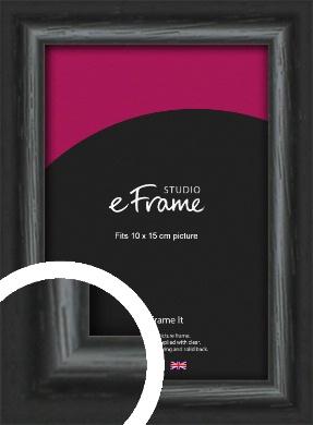 Urban Textured Black Picture Frame, 10x15cm (4x6