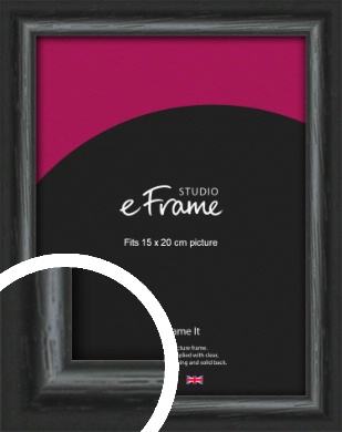 Urban Textured Black Picture Frame, 15x20cm (6x8