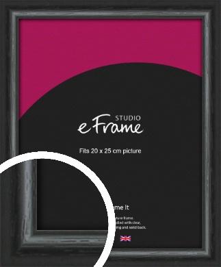 Urban Textured Black Picture Frame, 20x25cm (8x10