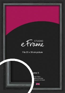 Urban Textured Black Picture Frame, 20x30cm (8x12