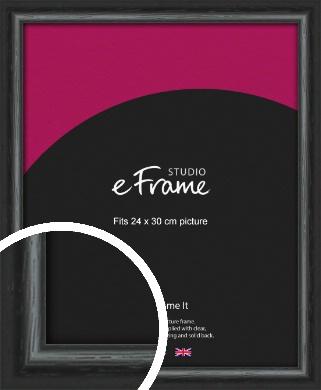 Urban Textured Black Picture Frame, 24x30cm (VRMP-1144-24x30cm)
