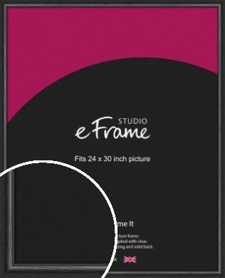 Urban Textured Black Picture Frame, 24x30