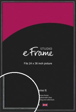 Urban Textured Black Picture Frame, 24x36