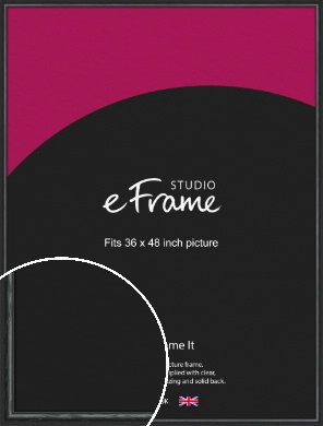 Urban Textured Black Picture Frame, 36x48