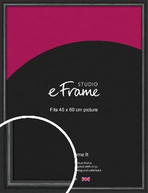 Urban Textured Black Picture Frame, 45x60cm (VRMP-1144-45x60cm)