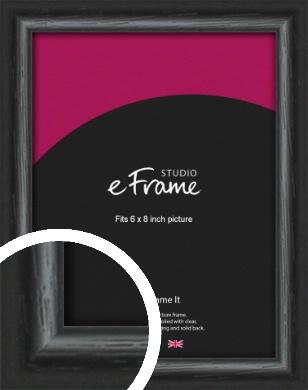 Urban Textured Black Picture Frame, 6x8