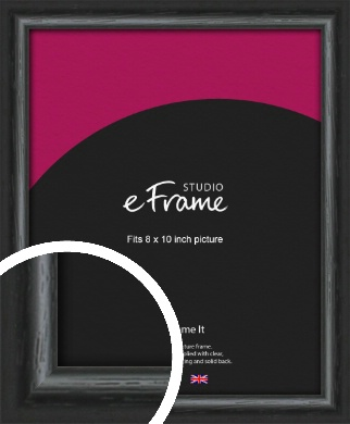 Urban Textured Black Picture Frame, 8x10