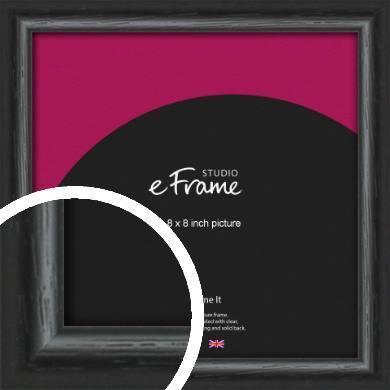 Urban Textured Black Picture Frame, 8x8