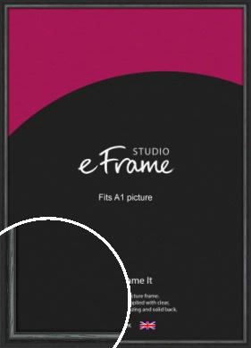 Urban Textured Black Picture Frame, A1 (594x841mm) (VRMP-1144-A1)