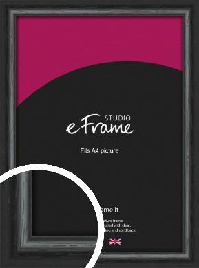 Urban Textured Black Picture Frame, A4 (210x297mm) (VRMP-1144-A4)