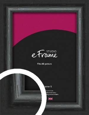 Urban Textured Black Picture Frame, A6 (105x148mm) (VRMP-1144-A6)