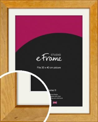 Rich Brown Picture Frame & Mount, 30x40cm (VRMP-169-M-30x40cm)