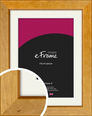 Rich Brown Picture Frame & Mount, A4 (210x297mm) (VRMP-169-M-A4)