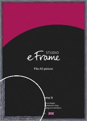 Nautical Style Blue Picture Frame, A0 (841x1189mm) (VRMP-587-A0)