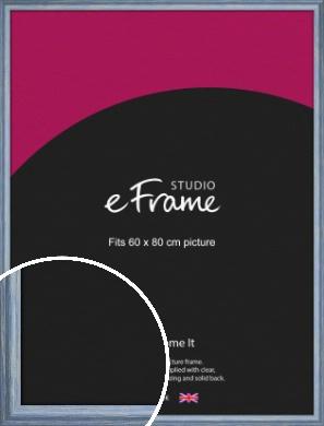 Roughened Sky Blue Picture Frame, 60x80cm (VRMP-1149-60x80cm)