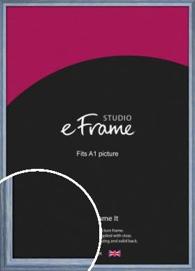 Roughened Sky Blue Picture Frame, A1 (594x841mm) (VRMP-1149-A1)