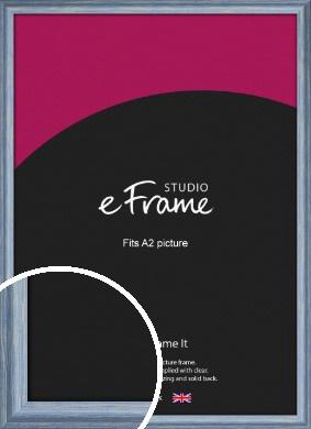 Roughened Sky Blue Picture Frame, A2 (420x594mm) (VRMP-1149-A2)