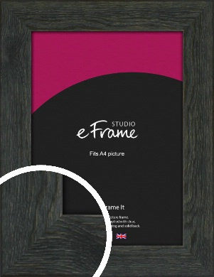 Heritage Midnight Black Picture Frame, A4 (210x297mm) (VRMP-1152-A4)