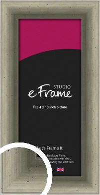 Distressed Metallic Silver Picture Frame, 4x10