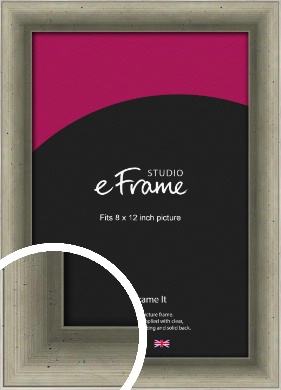 Distressed Metallic Silver Picture Frame, 8x12