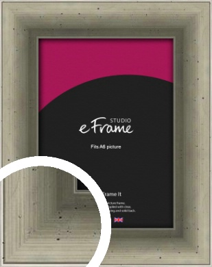 Distressed Metallic Silver Picture Frame, A6 (105x148mm) (VRMP-244-A6)