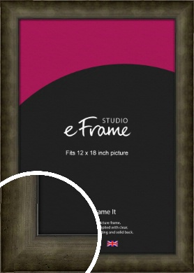 Chamfered Hammered Bronze / Copper Picture Frame, 12x18