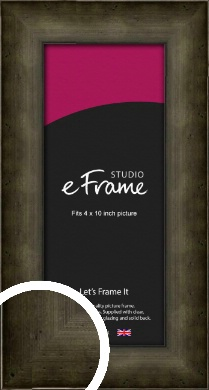 Chamfered Hammered Bronze / Copper Picture Frame, 4x10