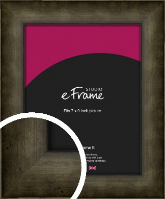 Chamfered Hammered Bronze / Copper Picture Frame, 7x9