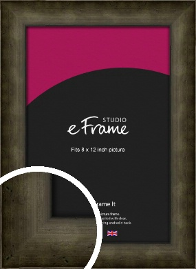 Chamfered Hammered Bronze / Copper Picture Frame, 8x12