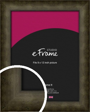 Chamfered Hammered Bronze / Copper Picture Frame, 9x12