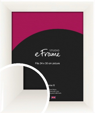 Arc High Gloss White Picture Frame, 24x30cm (VRMP-742-24x30cm)