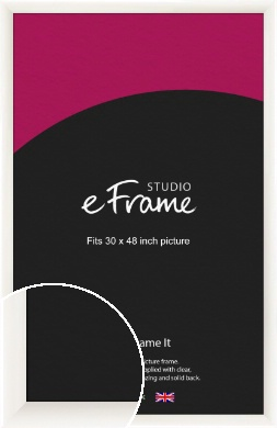 Arc High Gloss White Picture Frame, 30x48