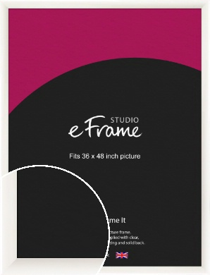 Arc High Gloss White Picture Frame, 36x48