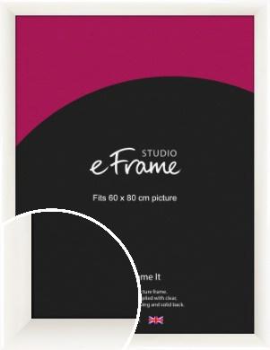 Arc High Gloss White Picture Frame, 60x80cm (VRMP-742-60x80cm)