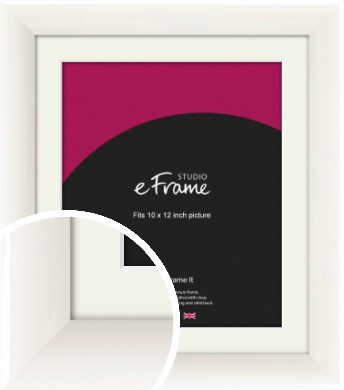 Arc High Gloss White Picture Frame & Mount, 10x12