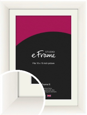 Arc High Gloss White Picture Frame & Mount, 10x15