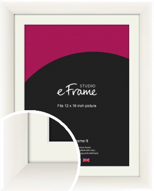Arc High Gloss White Picture Frame & Mount, 12x16