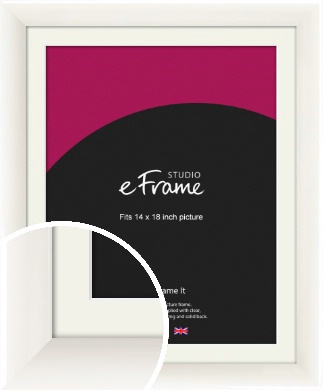 Arc High Gloss White Picture Frame & Mount, 14x18