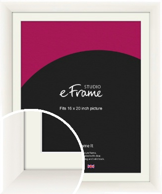 Arc High Gloss White Picture Frame & Mount, 16x20