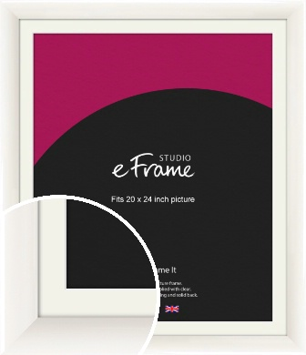 Arc High Gloss White Picture Frame & Mount, 20x24