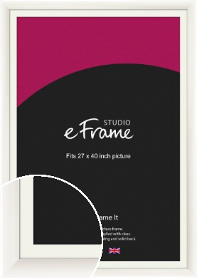 Arc High Gloss White Picture Frame & Mount, 27x40