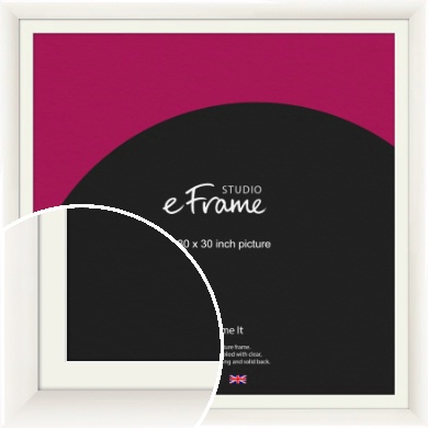 Arc High Gloss White Picture Frame & Mount, 30x30